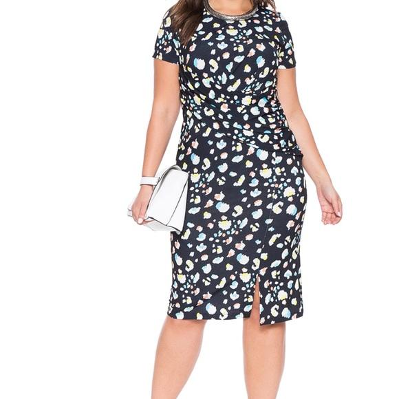 Eloquii Dresses & Skirts - Cute blue and white dress